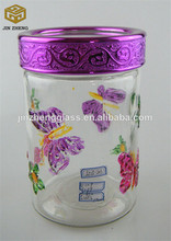 Glass Tea Leaves Tin/ Cantanist Candy Storage Jars/ Pots/ Cans with Lid on Promotion Free Samples