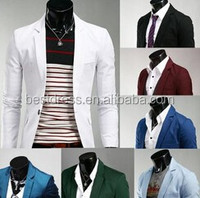 New 8 colors Stylish Men's Casual Slim fit One Button Suit Blazer Coat Jackets