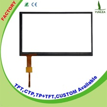 Industrial i2c interface capacitive touch panel 7 inch with front glass
