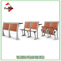 Aluminum Frame student chair with tablet arm