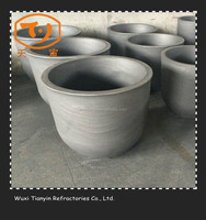 [TY]Refractory Graphite Good Quality Sic Crucible For Aluminum/Copper Melting