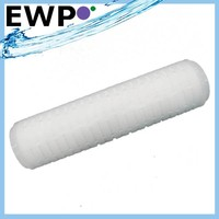 Pleated membrane cartridge water filter