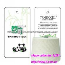 mezclas de hilados de algodón de bambú natural