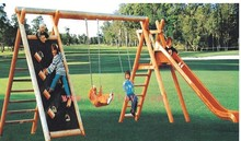outdoor wooden swing sets LY-109A
