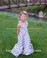 Atacado de moda infantil e fantasia de comprimento maxi vestido plissado com/vestido tipo