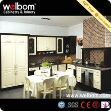 Classic White and Black Lacquer Kitchen Design