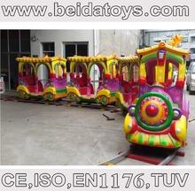 Children electric train with rail amusement equipment BD-N50829A