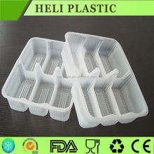 Food grade plastic disposable 6 compartment food packaging manufacture