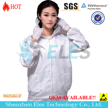 ESD OEM Clean room polyester cotton garment clothes overcoat smock