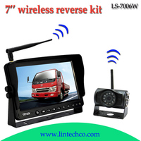 2014 HOT selling! waterproof night vision 7 inch LCD monitor wireless reversing camera kit for truck/bus/forklift/RV