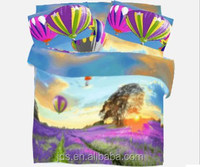 Fire balloon printed woven polyester fabric for 3D