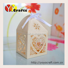 """100pieces/lot Wedding Favors packing Boxes wedding Chocolate Boxes """"butterfly""""laser cut Wedding cookie packing boxes"""