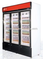 Commercial Upright Glass Door Freezer for ice cream and frozen food