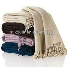 wholesale throw blanket 100% silk/bamboo throw blanket or mixed