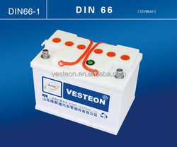 China lead acid dry car batteries 12V 60Ah battery