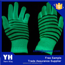 MAGIC Glow in the Dark Gloves,Glove Color Is White And GLOW Green