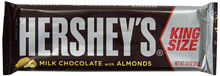 HERSHEY'S MILK CHOCOLATE W/ALMONDS KING SIZE BAR 2.6 OZ