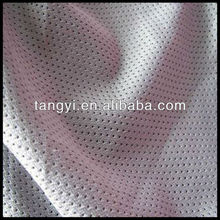 knitted 100 polyester mesh fabric for t shirts