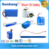 Customizable size&capacity lithium polymer battery pack 12v li-ion battery pack battery powered blinking led lights