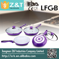Aluminum color changing fry pan with ceramic coating
