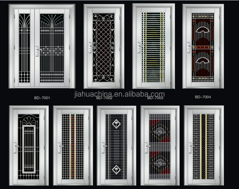 Stainless steel grill door design buy stainless steel for Door design steel
