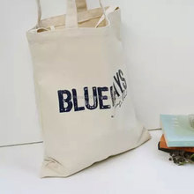 Guangzhou manufacture factory price foldable shopping bag white portable recyclable shopping cotton bag