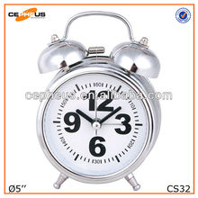 Metal Twin Bell Alarm Desktop Clock