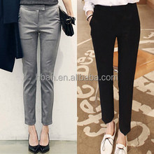 Straight professional leisure foot trousers in summer