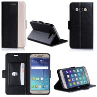 New product Genuine Leather High Quality cell phone case for Samsung A8