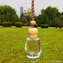 Transparent empty perfume bottle, car perfume air freshener
