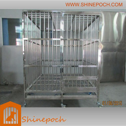 customizable square stainless steel big dog cage SED1-002S