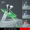 QL-14BL Luxury LED basin faucet/ Waterfall faucet