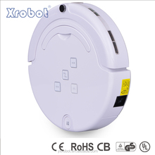Household mini robotic vacuum cleaner for floor cleaning, with handle