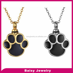 Factory price custom engraved stainless steel pet cremation jewelry
