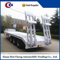 low loader trailer/Engineering & Construction machines transport 30--90 ton lowboy for sale