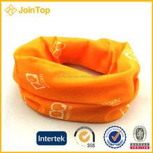 Ladies Blossom Orange Head Scarf Soft Gauze Cotton