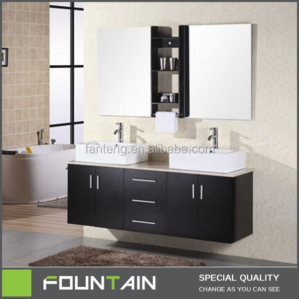Hot sale home decor modern bathroom vanity cabinet double for Bathroom decor sale
