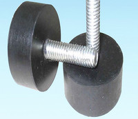 Rubber buffer and bump stop for shock absorber