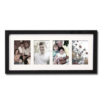 China Manufacturer Supply 4 Openings Collage Acrylic Photo wall Hanging plastic Picture mat frame Corner Protectors