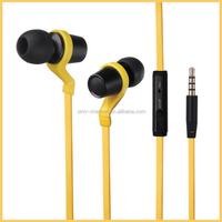 Best High quality promotional gifts oem mp3 6u speaker custom logo metal factory flat cable earphone