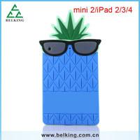 Fashion soft case for ipad mini pineapple silicone case