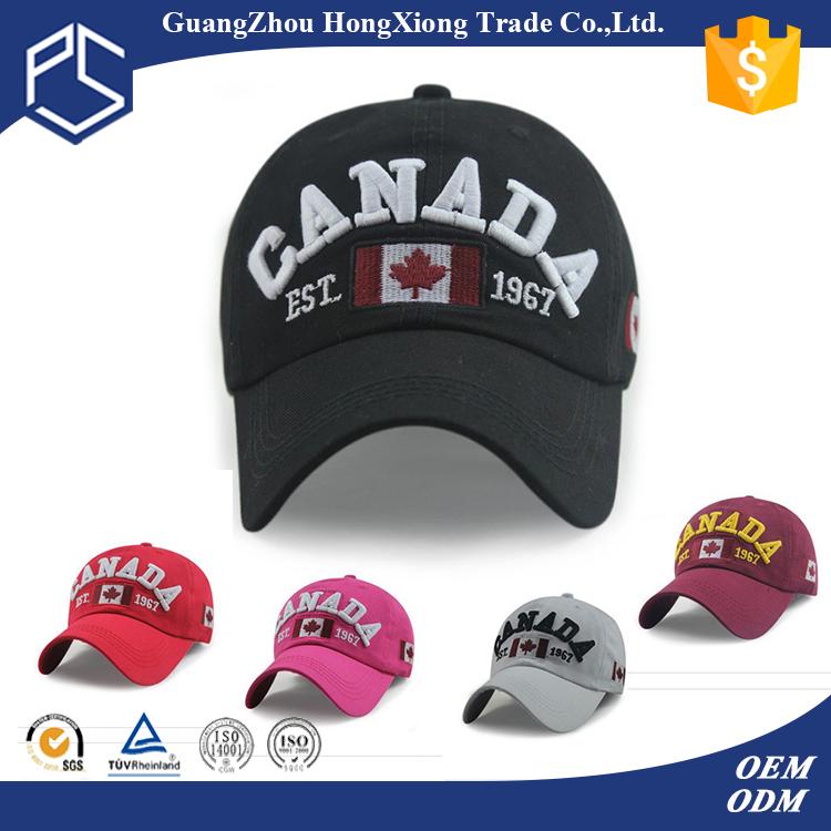 embroidery design promotional custom cheap baseball caps