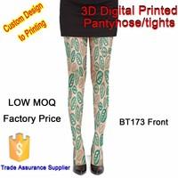 fashion vintage printing nylon feet tube pantyhose tube pantyhose nylon for wholesale