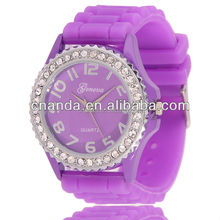 Simple custom made cheap price wrist woman violet watch