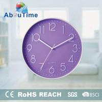 2015 promotional modern fashion ABS plastic wall clock