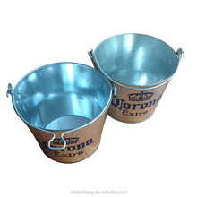 Tin made corona ice bucket for beer promotion 5 L with bottle opener metal ice bucket