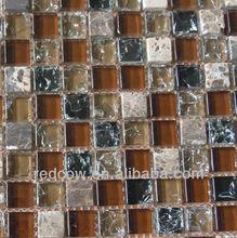 crystal glass plus stone mosaic 300x300 mm