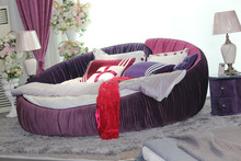Modern Big Size Noble Design Fabric Covers Round Bed Prices Round Bed Not Ikea