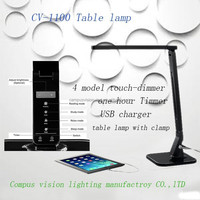 2015 innovative design clip lamp LED desk light with USB charging/side-emitting lighting for Eye caring reading