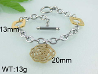 Wholesale 316L attractive 18k half gold plated girls' stainless anklets